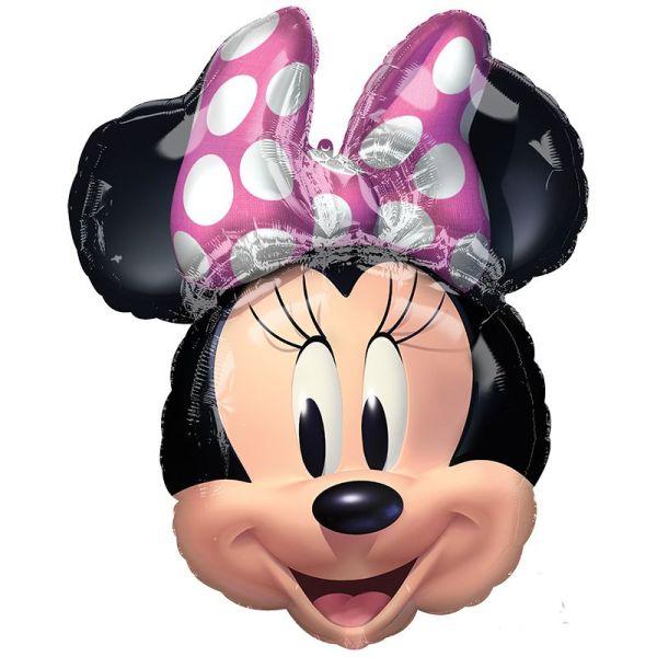 Фольгированный шар голова Минни с гелием
