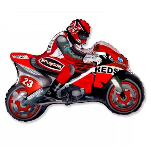 Мотоцикл фольгированный красный