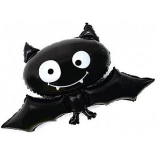 Летучая мышь с гелием на Хэллоуин