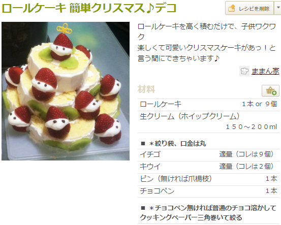 chr2 クリスマスかわいいデコケーキレシピ集!クックパッドで人気はコレ♪