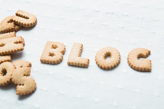 BLOGとかたどったクッキー