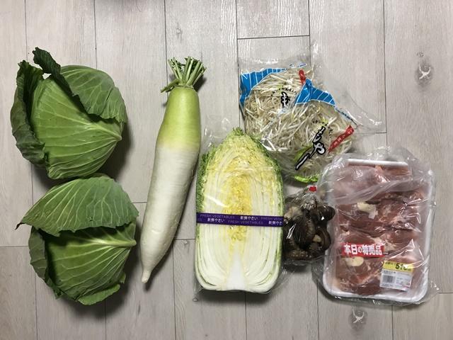 20190321 八百屋で買った野菜