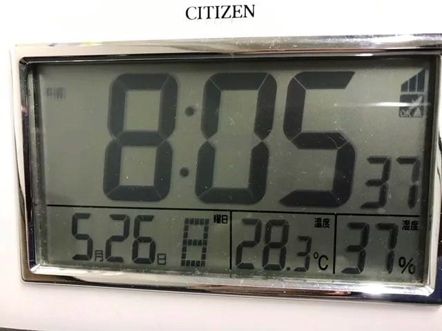 気温28.3度
