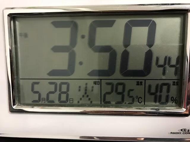 室温29.8度