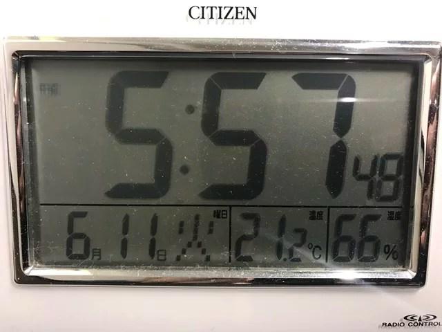 室温21.3度