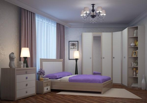 Спальня Глэдис (ясень шимо светлый/белый)