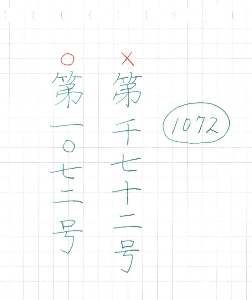 漢数字の書き方のルール【番号】