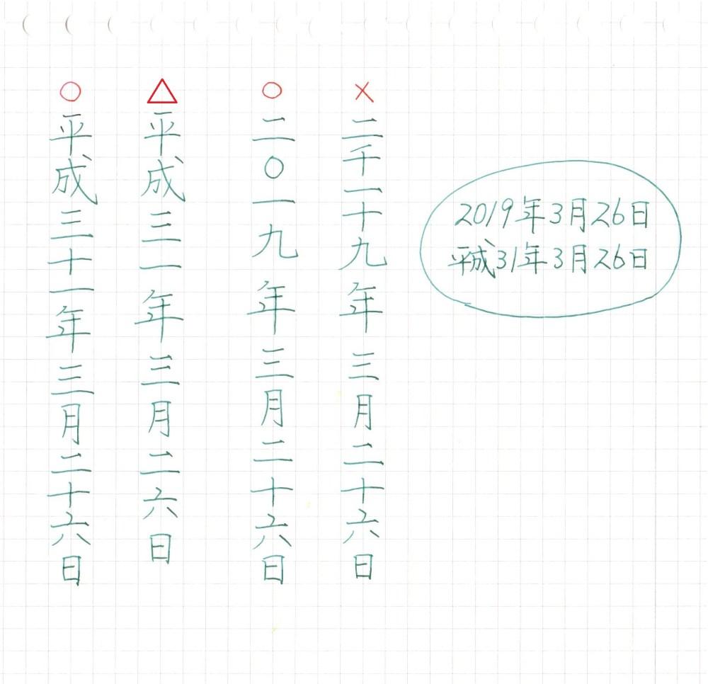 漢数字の書き方のルール【日付】西暦・和暦