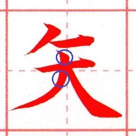 『矢』の書き方のコツ