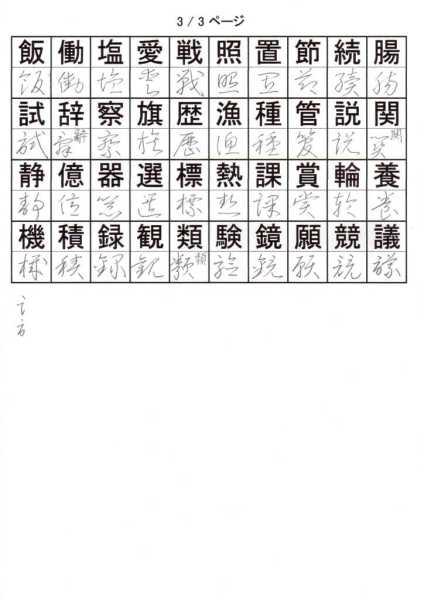 けっこう草書を覚える!小学校4年で習う漢字③
