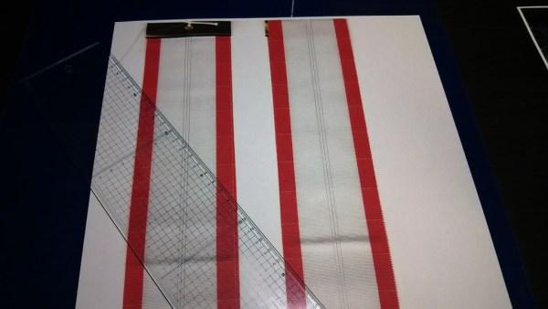 ペナントリボンのコピーをとって、とにかくレイアウトの線を引こう。