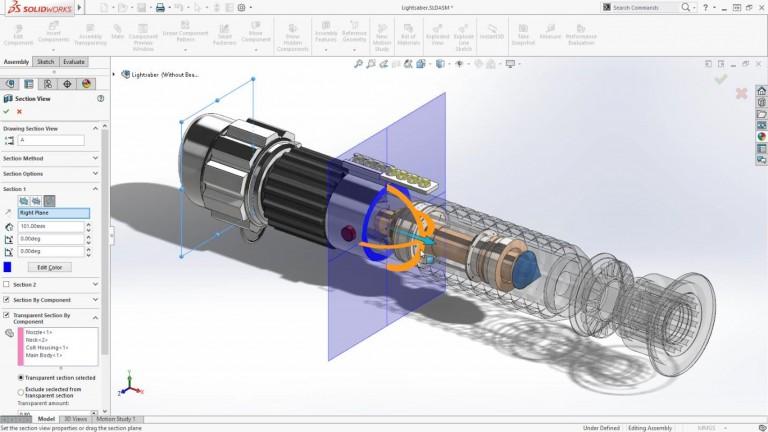 3D Konstruktionstegning udført i Sokidworks