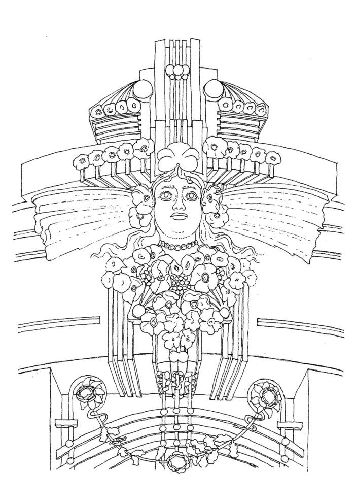 Dibujo de detalle de la Casa Rey