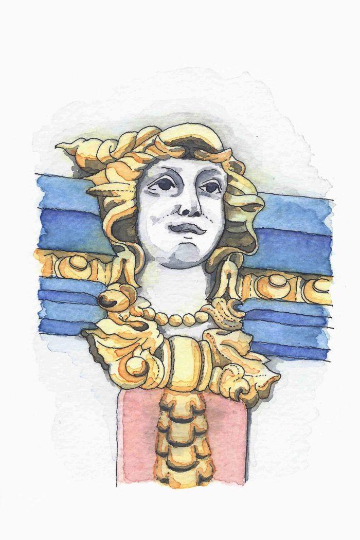 Dibujo de detalle de La Galería Real