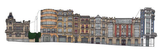 Dibujo Calle Ferrol
