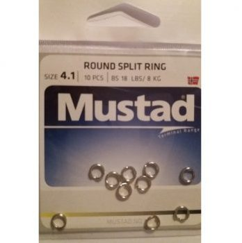 Mustad split ring 4.1mm