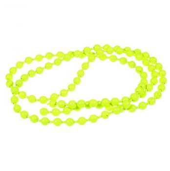 bead chain eyes -fluo chartreuse