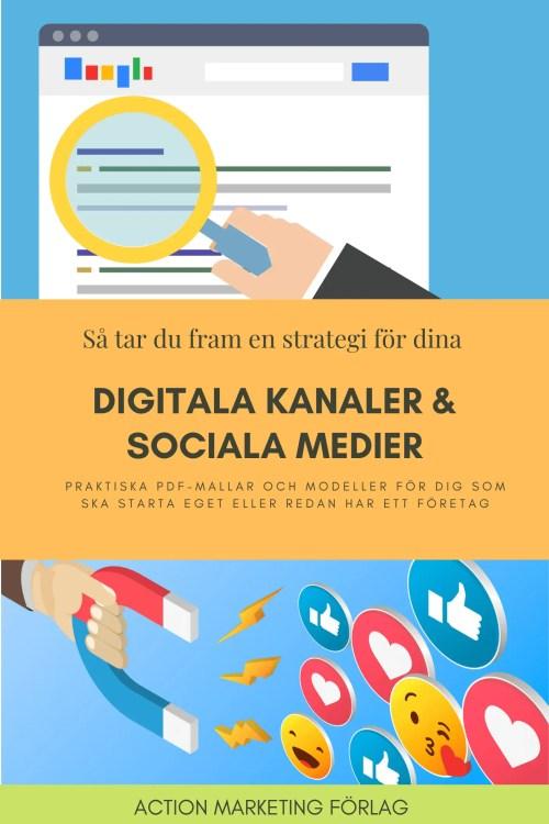 bok sociala medier och hemsida