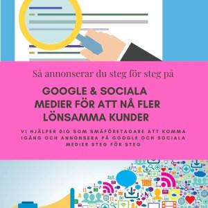 e-bok annonsera på Google och Facebook