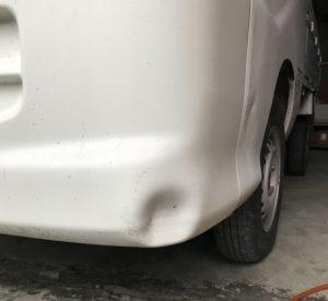 ハイゼットトラック S200P バンパー デントリペア 施工前!