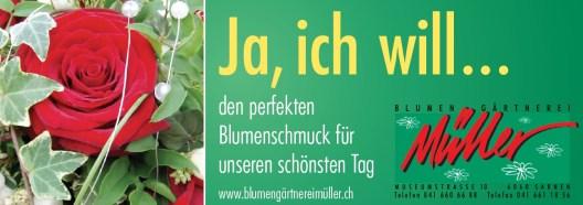 Heiraten mit der Blumen-Gärtnerei Müller Sarnen