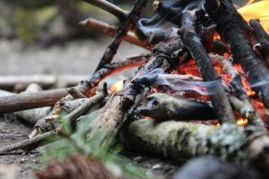 brannfare leirbål