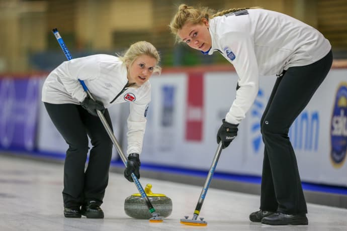 curling damer