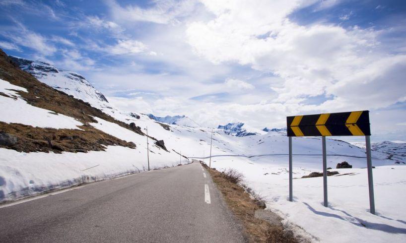påske vinter trafikk