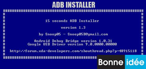 Installer ADB et Fastboot