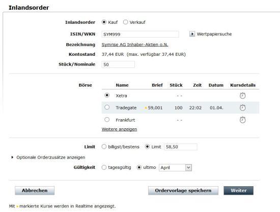 Online Broker Aktien kaufen Online