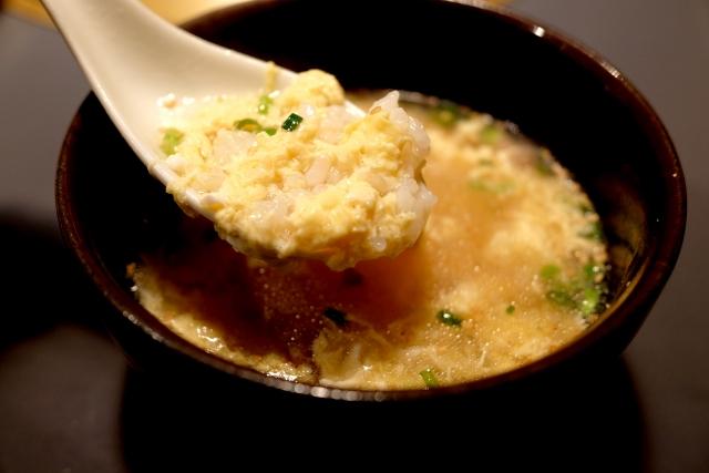 鍋の残り汁で雑炊