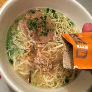 粉スープを入れる