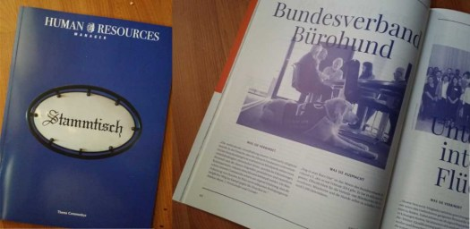 Bundesverband Bürohund im Magazin Human Resources Manager