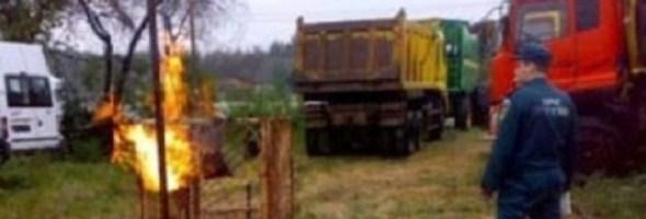 28.05.17 — В Кваркенском районе из-за удара молнии загорелся газопровод