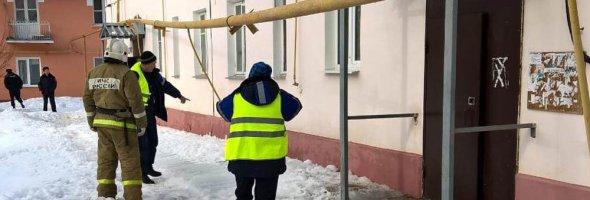 13.03.19 — повреждение газопровода в результате ДТП и эвакуация жилого дома для исключения ЧС в Свердловской области