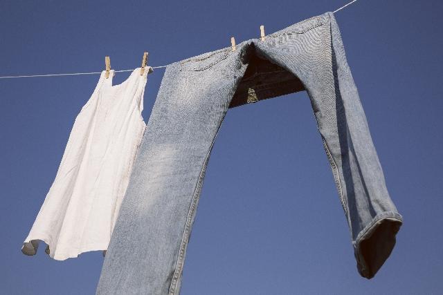冬 洗濯物