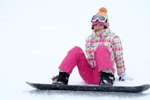 スノーボード・女性が転んだ