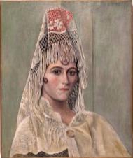 Olga Khokhlova con mantilla