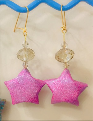 Boucles_oreille_étoile_origami_5