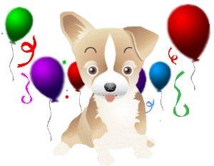 Los globos y el perrito felpudo el jugueton