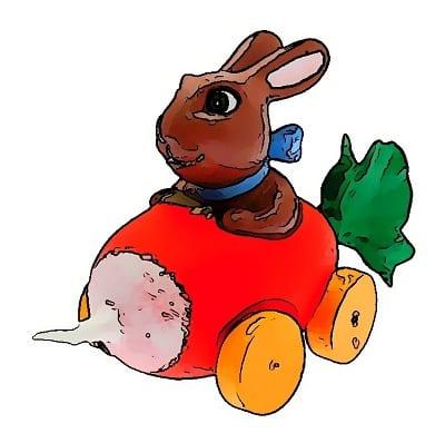 conejo-de-pascua-en-un-coche