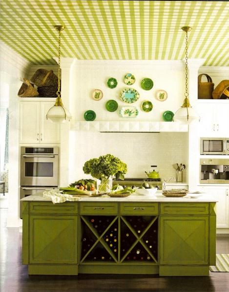 Какие обои лучше поклеить на кухне: фото в интерьере ...