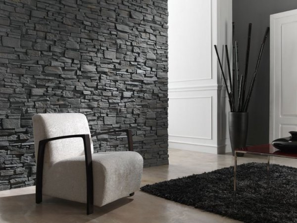 Отделка камнем гостиной – Отделка камнем внутри помещения ...