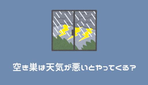 空き巣は天気が悪いとやってくる?台風でも安心してはいけない理由