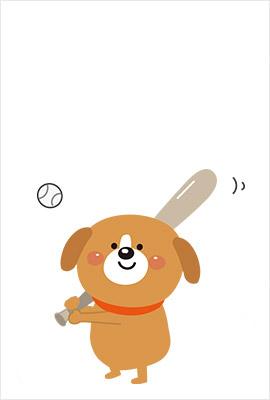 野球イラスト年賀状1