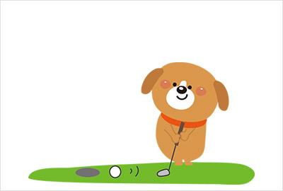 ゴルフイラスト年賀状4