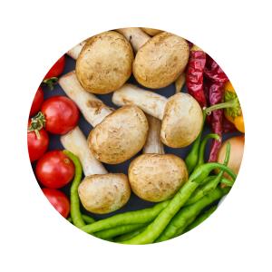 Gemüse, Pilze, Tomate, gesund, Vitamine