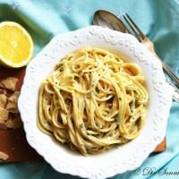 15 Minuten Pasta...Spaghetti in Zitronen-Parmesan Soße