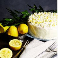 White Princess...Weiße Vanillecreme Torte mit Lemon Curd