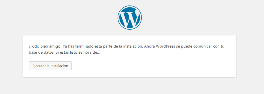 Instalador de WordPress - Paso 3
